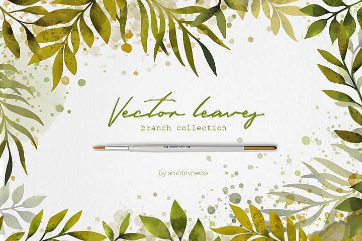 Leaf Branch Collection Clipart