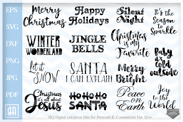 Christmas Sayings Bundle SVG, Christmas Quotes bundle svg