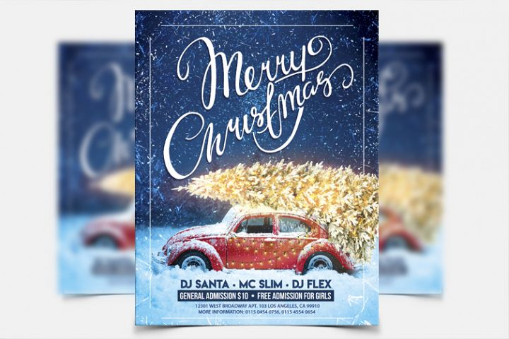 Christmas Night - PSD Flyer Template