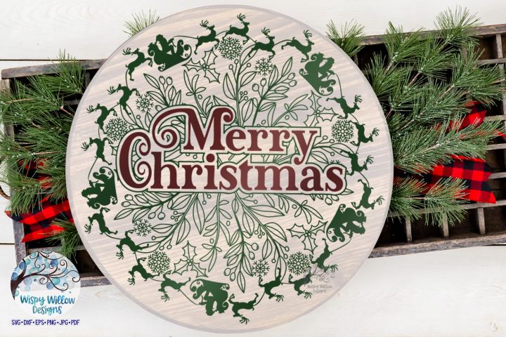 Merry Christmas Mandala SVG | Christmas SVG Cut File