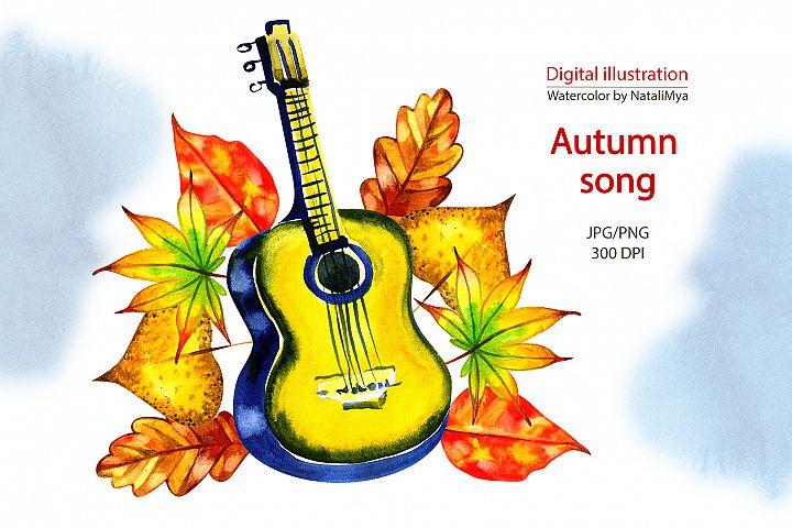 Watercolor autumn song