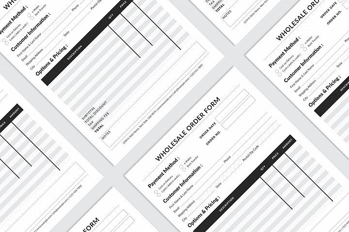 Editable Wholesale Order Form Template