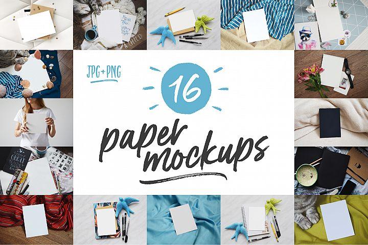 16 Paper Mockups