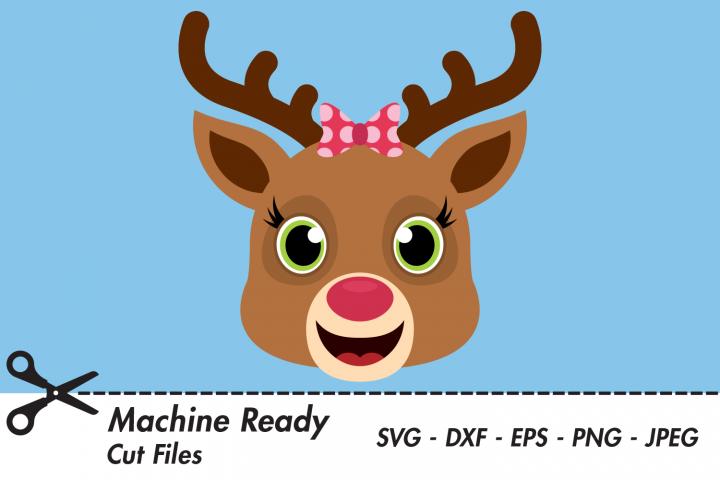 Cute Reindeer SVG Cut Files, Christmas, Winter Woodland