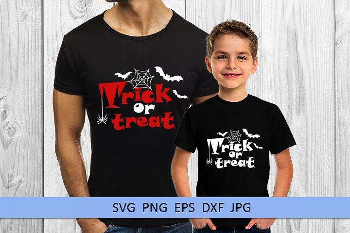 Halloween svg Trick or treat svg Boo svg Spider web svg