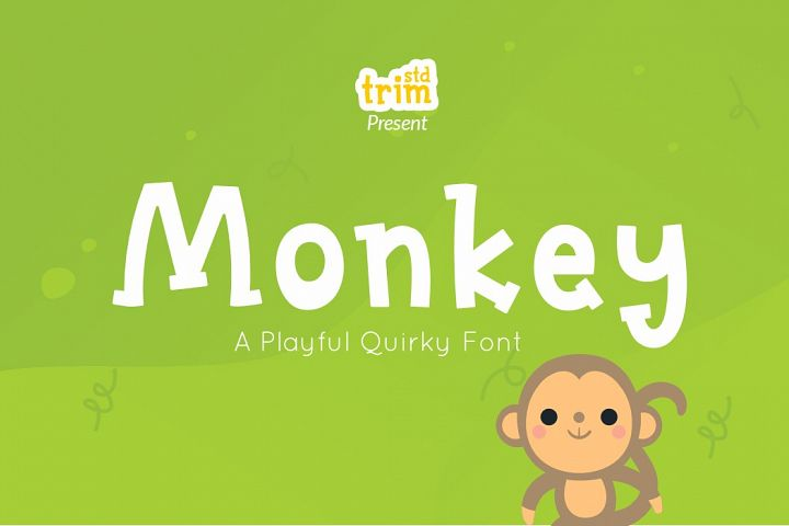 Monkey - Quirky Playful Font