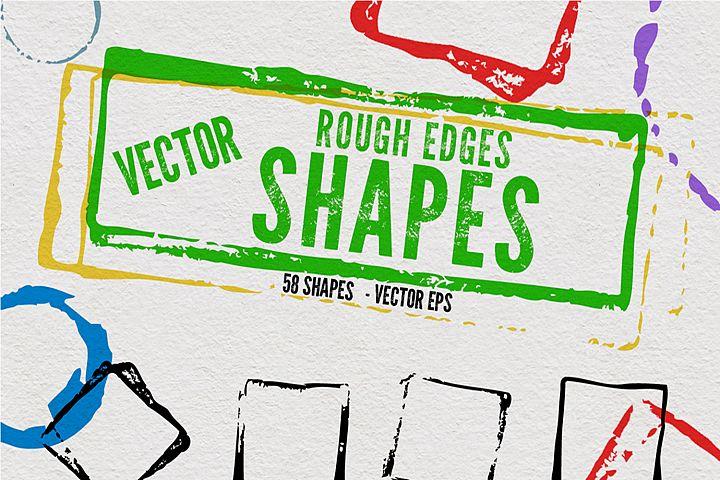 Vector Rough Edges Shapes