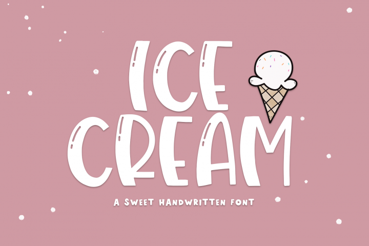 Ice Cream- A Handwritten Font