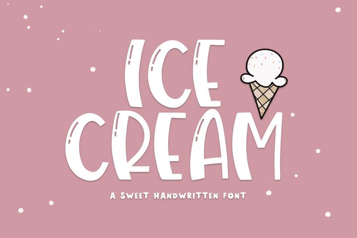 Ice Cream- A Handwritten Font
