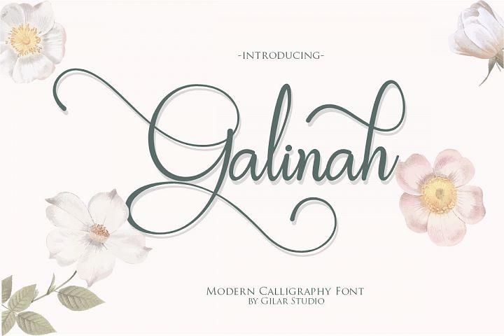 Galinah | Modern Calligraphy Font
