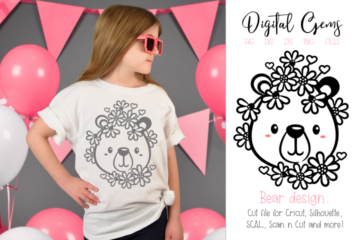 Bear design SVG / DXF / EPS / PNG files