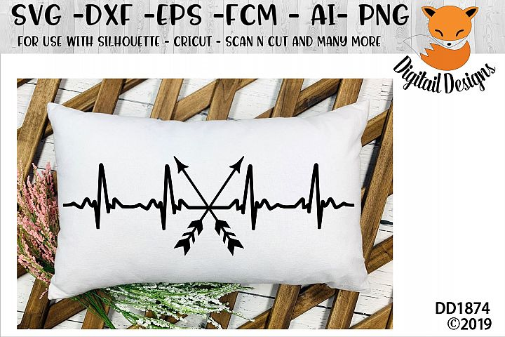 Archery EKG Heartbeat SVG