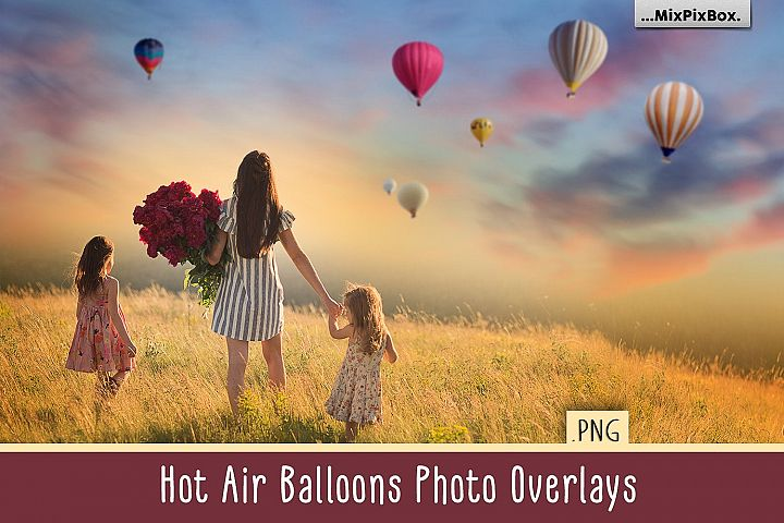 Hot Air Balloon PNG Photo Overlays