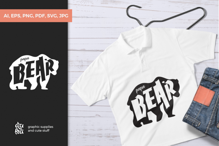 Fathers Day SVG Cut Files - Papa Bear