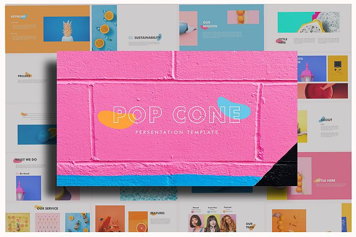 Pop Cone - Powerpoint Template