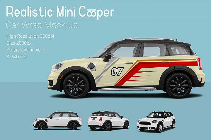 Mini Cooper Car Mock-Up