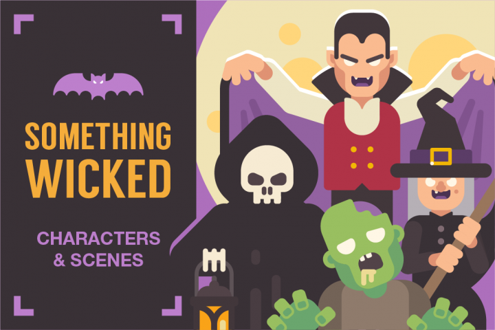 Something Wicked! Halloween characters and scenes