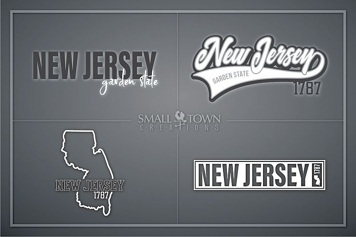 New Jersey, Garden State - slogan, PRINT, CUT & DESIGN
