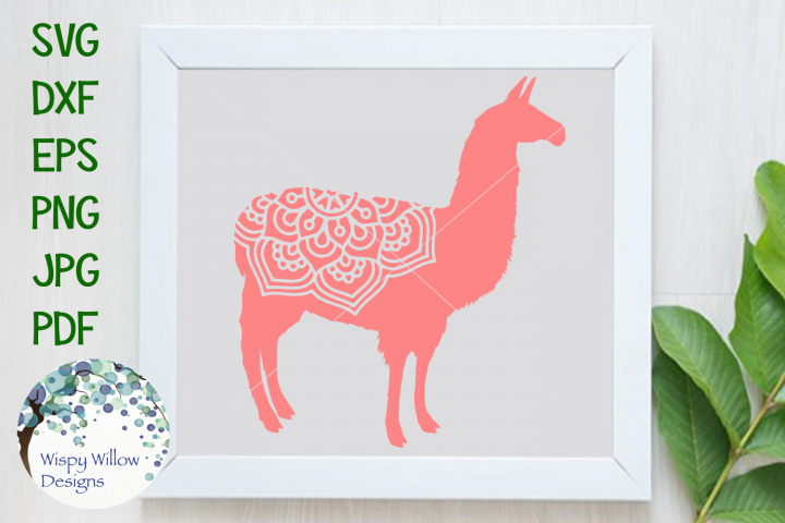 Llama Mandala, Animal Mandala SVG Cut File