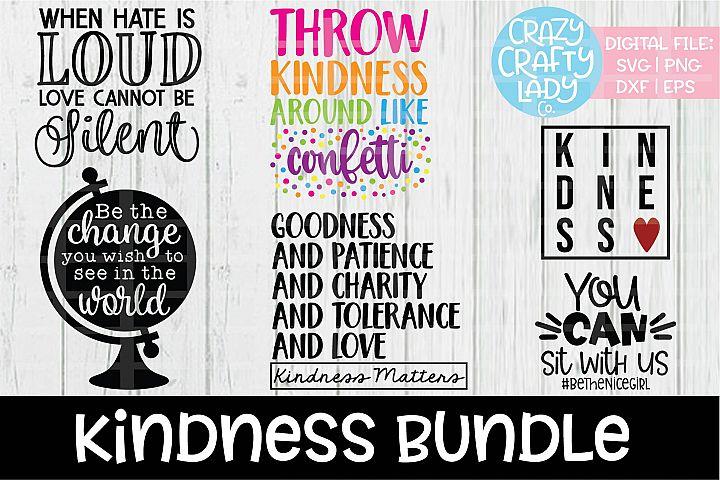 Kindness Bundle SVG DXF EPS PNG Cut Files