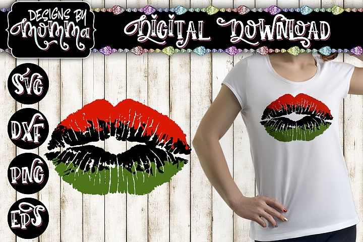Lips Red Green Black SVG