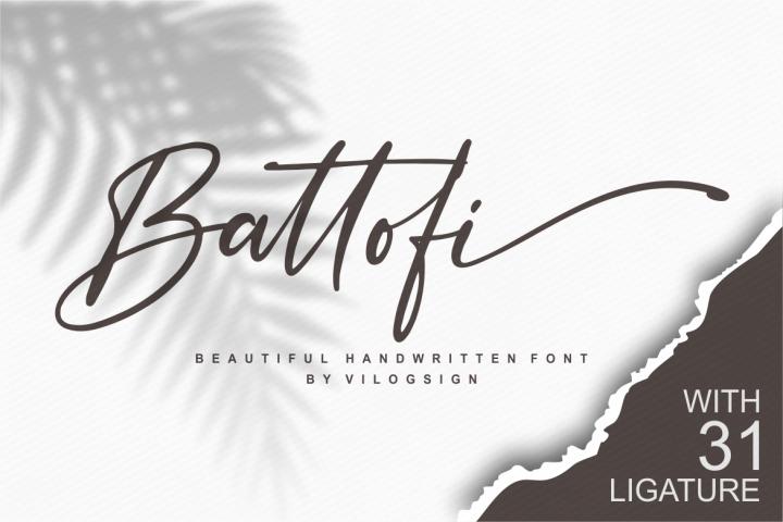 Battofi Handwritten Font