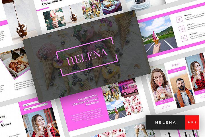 Helena - Ice Cream PowerPoint Template