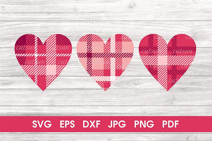 Valentine SVG | Tartan Hearts SVG | Plaid hearts SVG