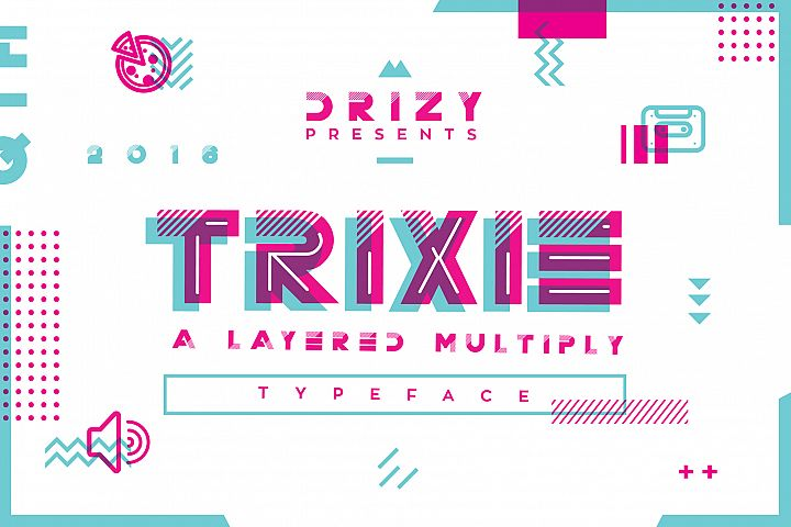 Trixie Layered Multiply Typeface