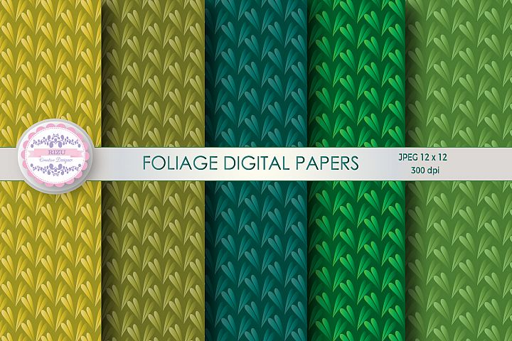 FOLIAGE DIGITAL PAPERS