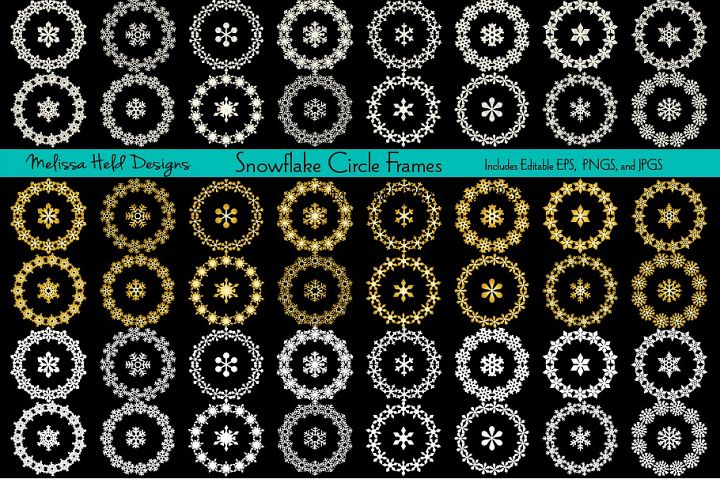 Snowflake Circle Frames