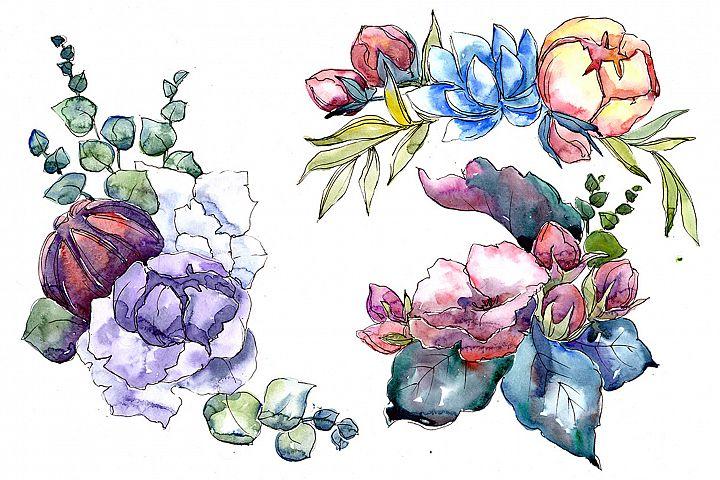 Jenny flowers bouquet watercolor png