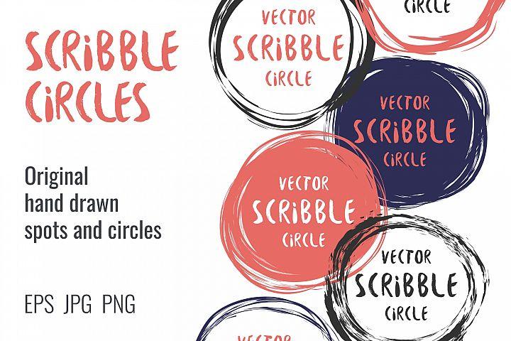 Hand drawn scribble circles