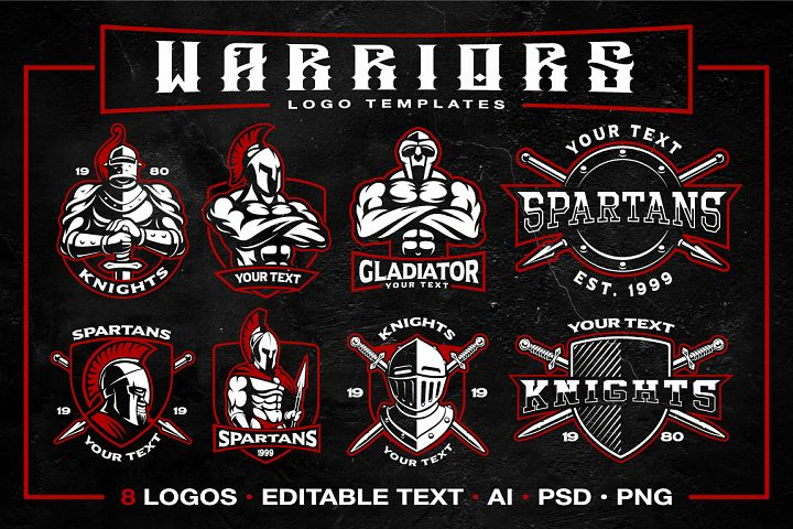 Warriors logo templates