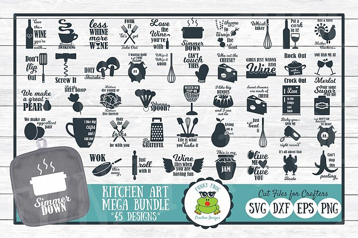 Kitchen Art Mega Design Bundle - SVG Cut Files for Crafters