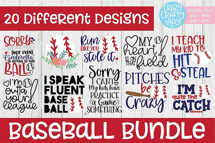Baseball SVG DXF EPS PNG Cut File Bundle