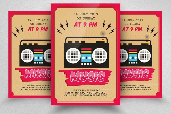 Music Night Flyer Template