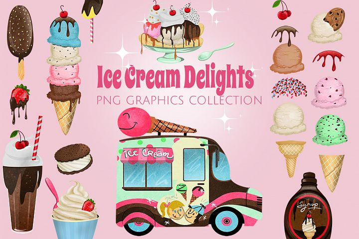 Ice Cream Shoppe Graphics Set