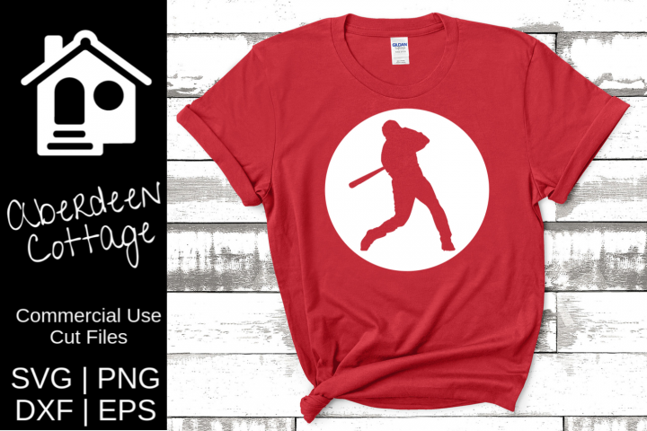 Baseball Player Cutout Design