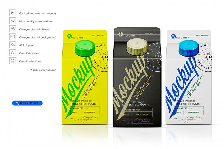 Mockup Package Tetra Pak Rex 500ml-Front View