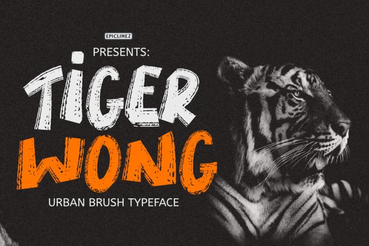 Tiger Wong - Display Brush font