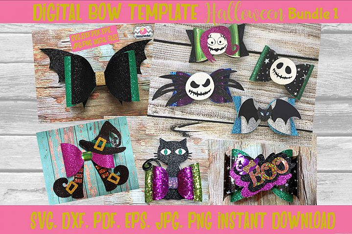 Halloween Hair Bow Template Bundle 1