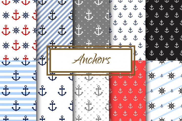 Nautical Anchors Seamless Pack
