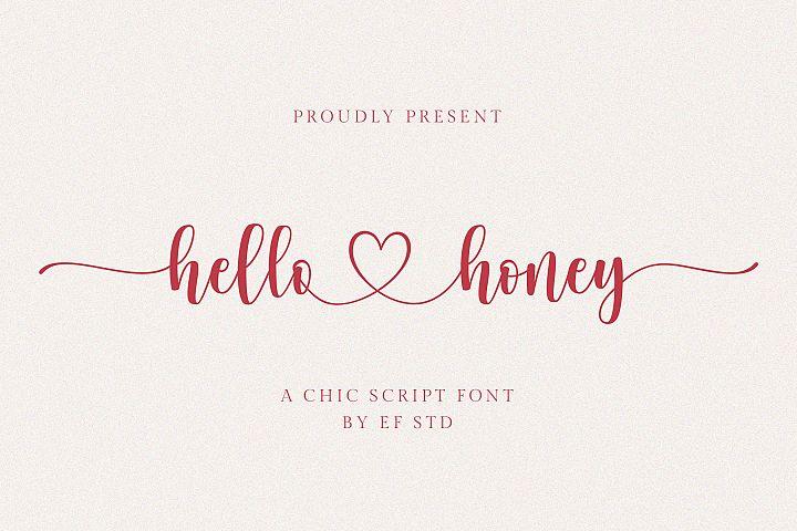 hello honey - a chic script font
