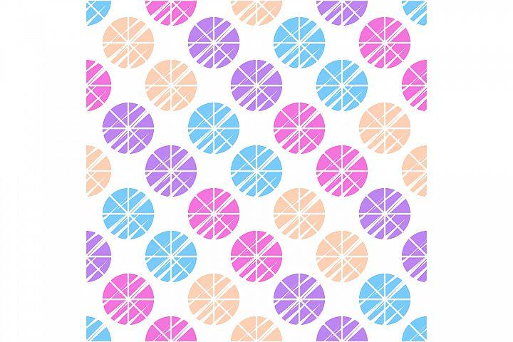 Polka dot ethnic ornament. Set of 10 seamless patterns.