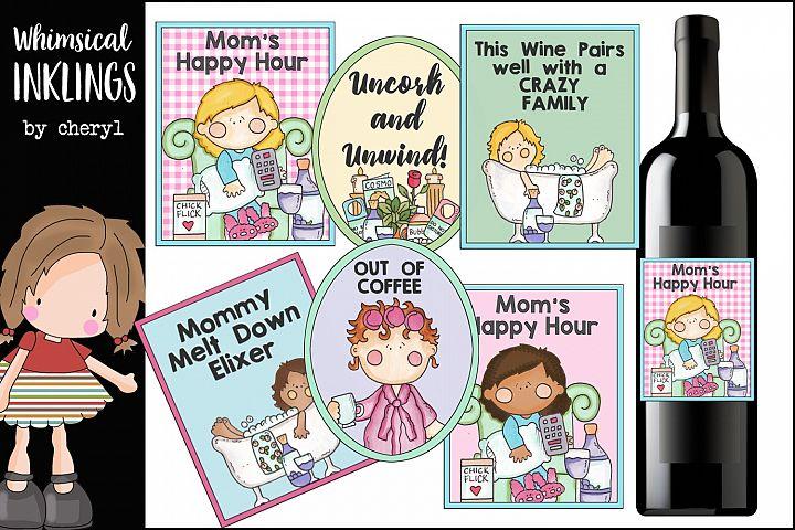 Mommy Meltdown Wine Labels