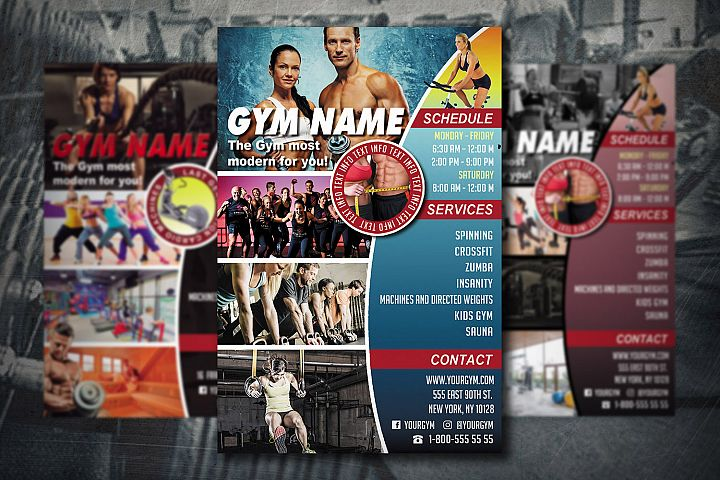 GYM FLYER TEMPLATE | Gym Club Template | Photoshop Template