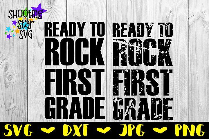 Ready to Rock School Milestones Distressed SVG Bundle