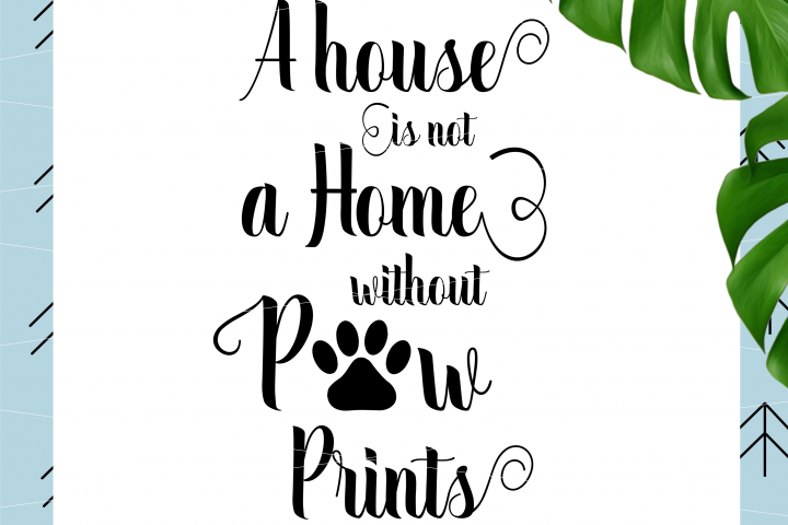 A House Is Not a Home Without Paw svg