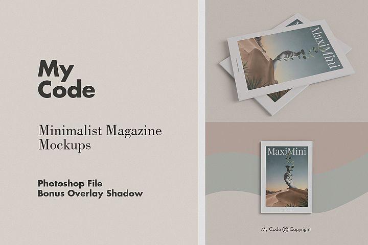 Minimalist Magazine Mockup